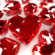 Illustration of some heart-shaped rubies — Stock Photo #12439893