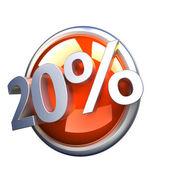 Orange discount button — Stock Photo