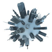 Modern city planet — Stock Photo