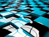 Abstract illustration of a cube pattern — Stock Photo