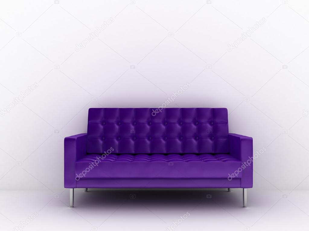 3d rendered illustration of a purple sofa — Stock Photo #12438989