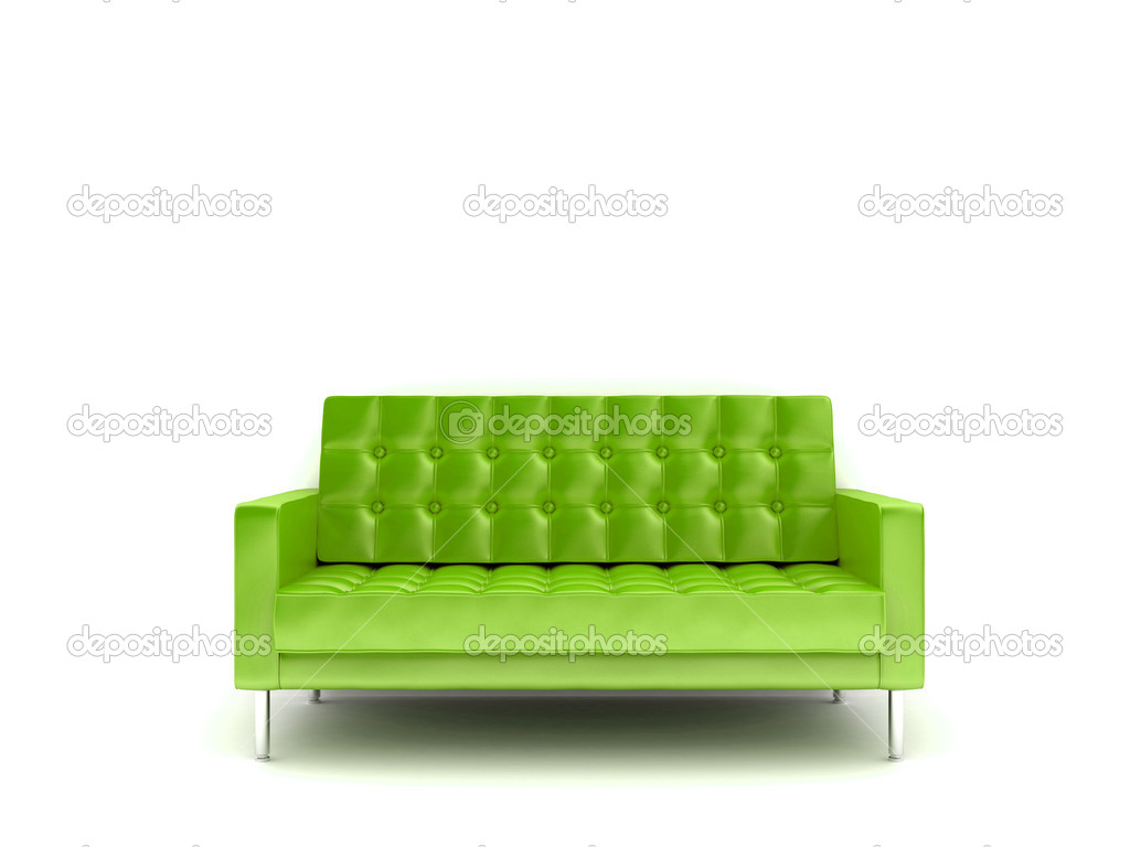 3d rendered illustration of a purple sofa — Stock Photo #12439168