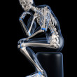 Thinking skeleton - Stock Photo