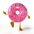 Stock Photo: Illustration of donut character