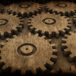Grunge gears — Stock Photo