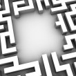3d maze — Stock Photo #12447057