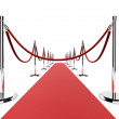 Red carpet barrier — Stock Photo