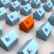 Little 3d houses — Stock Photo
