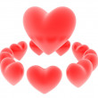 3d hearts - Stock Photo