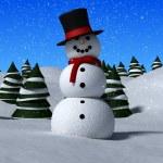 3d snowman — Stock Photo #12447289