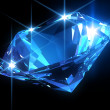 Shiny blue diamond - Stock Photo