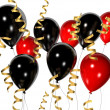 Stock Photo: Red and black balloons