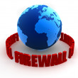 Globe firewall — Stock Photo #12447753