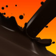 Choco splash — Stock Photo