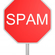 Stock Photo: Spam sign
