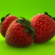 3d strawberry  — Stock Photo
