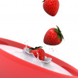 Stock Photo: Strawberry splash
