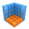 Abstract 3d cube  — Stock Photo