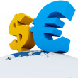 Dollar and euro — Stock Photo
