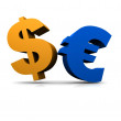 Dollar and euro — Stock Photo #12448946