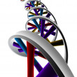 3d rendered illustration of a double helix — Stock Photo