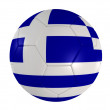 Soccer ball greece — Stock Photo