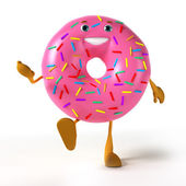 Illustration of a donut character — Stock Photo