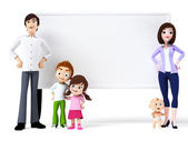 Illustration of a happy family — Stock Photo