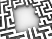 3d maze — Stock Photo