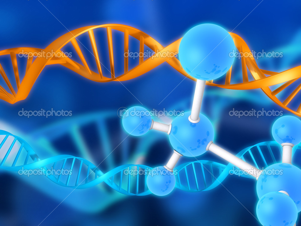 Illustrations - dna   Stock Photo #12446255