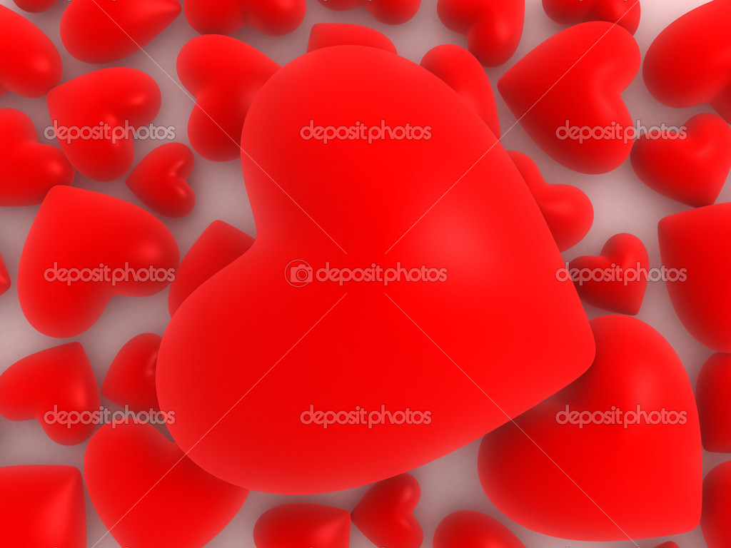 3d hearts  — Stock Photo #12448333