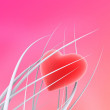 Heart on a pink background — Stock Photo