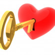 Unlock my heart - Stock Photo
