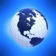 Globe with meridians — Stock Photo