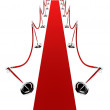 Barrier rope and red carpet — Stock Photo