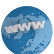 Internet world wide web concept — Foto Stock