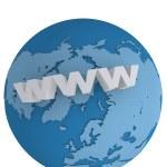 Internet world wide web concept — Stock Photo