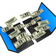 Royalty-Free Stock Photo: Money jumping from Laptop to Laptop