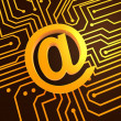 Golden mail symbol — Stock Photo #12451536