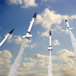 Rockets in the sky — Stock Photo