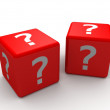Question mark cubes — Stock Photo