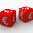 Euro cubes — Stock Photo