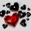 Red diamond heart — Stock Photo
