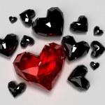 Red diamond heart — Stock Photo