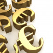 Golden euros — Stock Photo