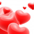 3d hearts — Stock Photo