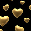 Royalty-Free Stock Photo: Golden valentine hearts