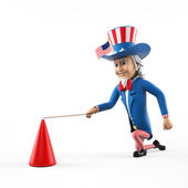 3d rendered illustration of an uncle sam — Stock Photo
