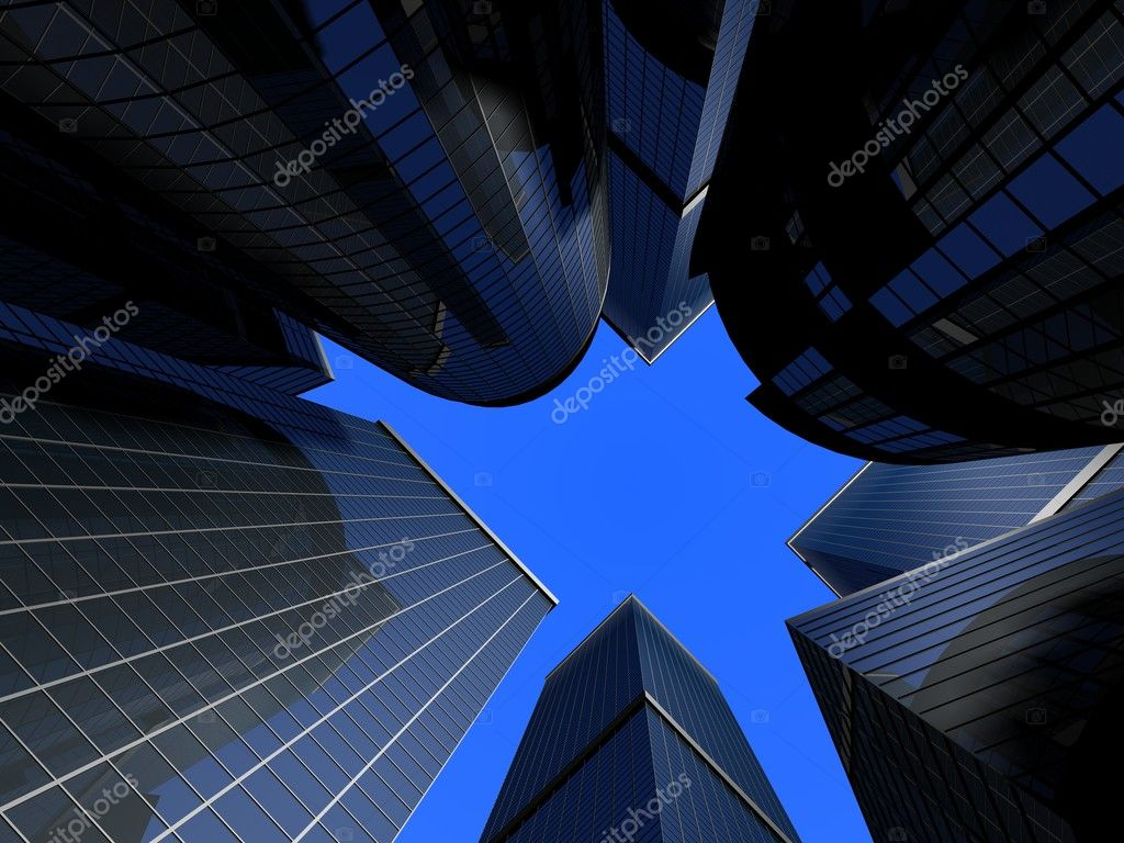 Abstract glass skyscrapers — Stock Photo #12451580