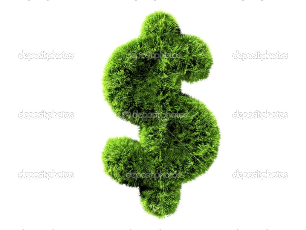 Grass dollar — Stock Photo #12452346